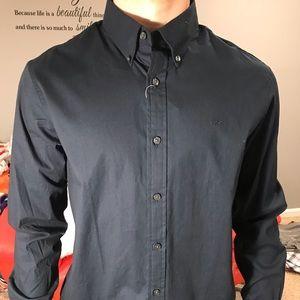 Men's Michael Kors Dress Shirt Navy Size M Medium